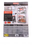 Display rack for tools , metallic beige