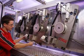 Workers on the production Trw Steering Systems Poland (Poland)
